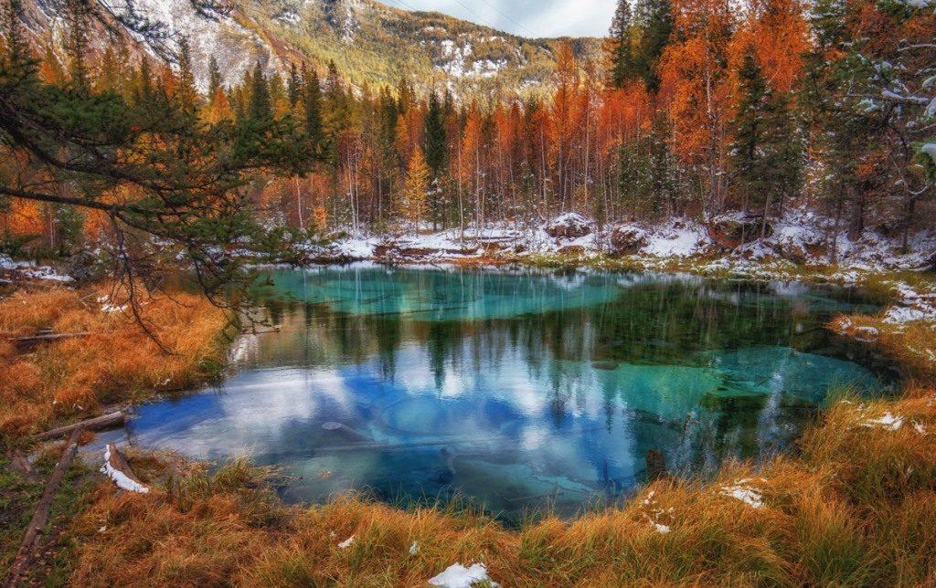 Гейзерное озеро Алтая
