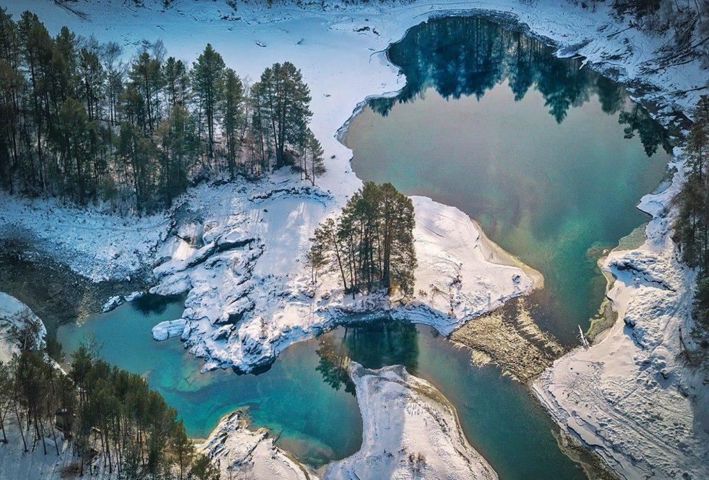 Голубые озера Катунь