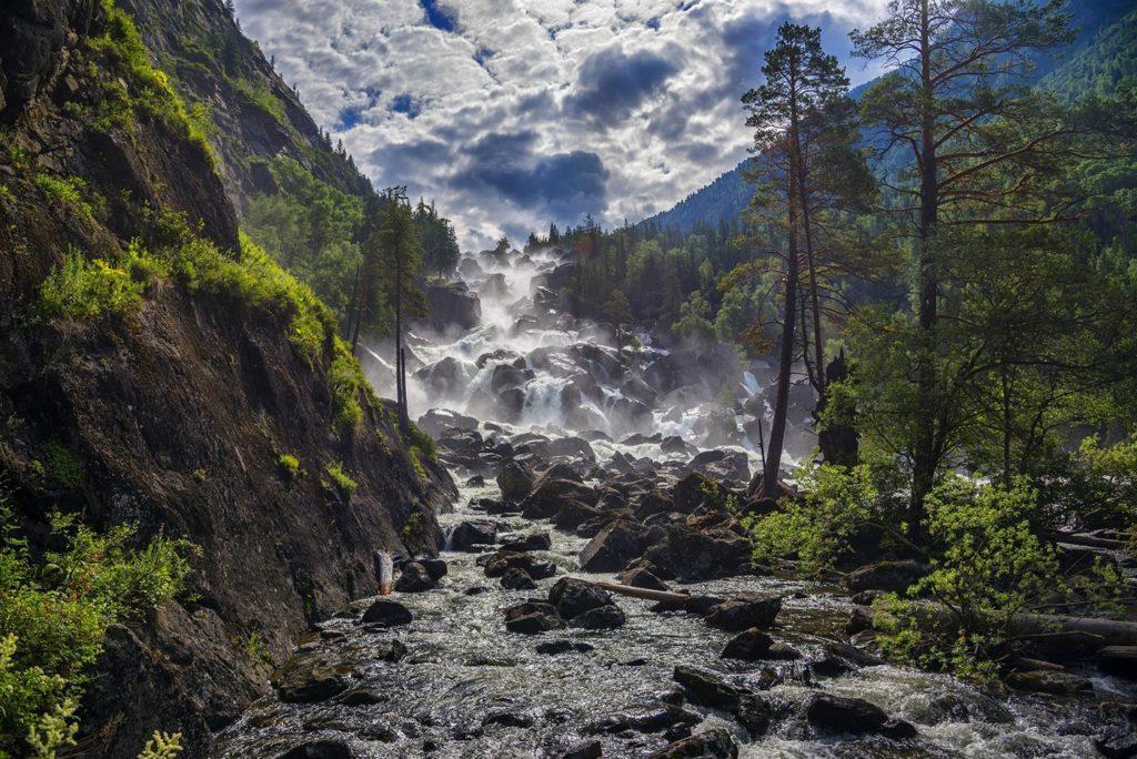 Водопад Учар Алтай