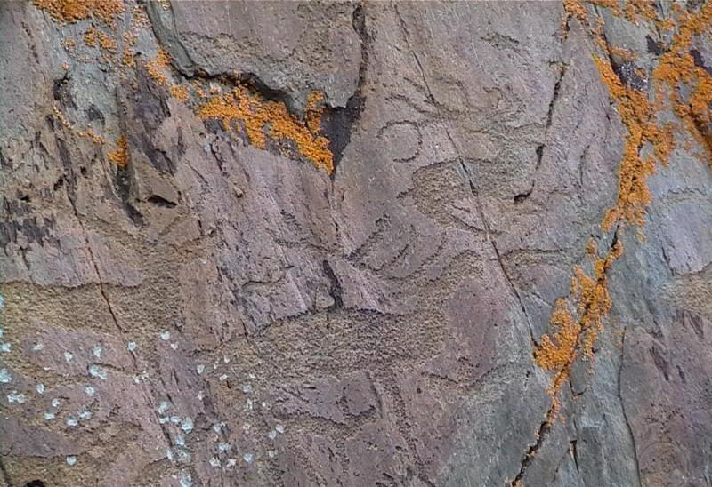 петроглифы калготинский рудник
