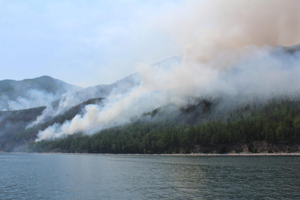 Лесные пожары Байкал