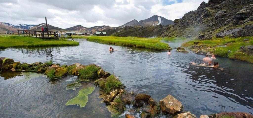 Ландманналаугар Исландия источники